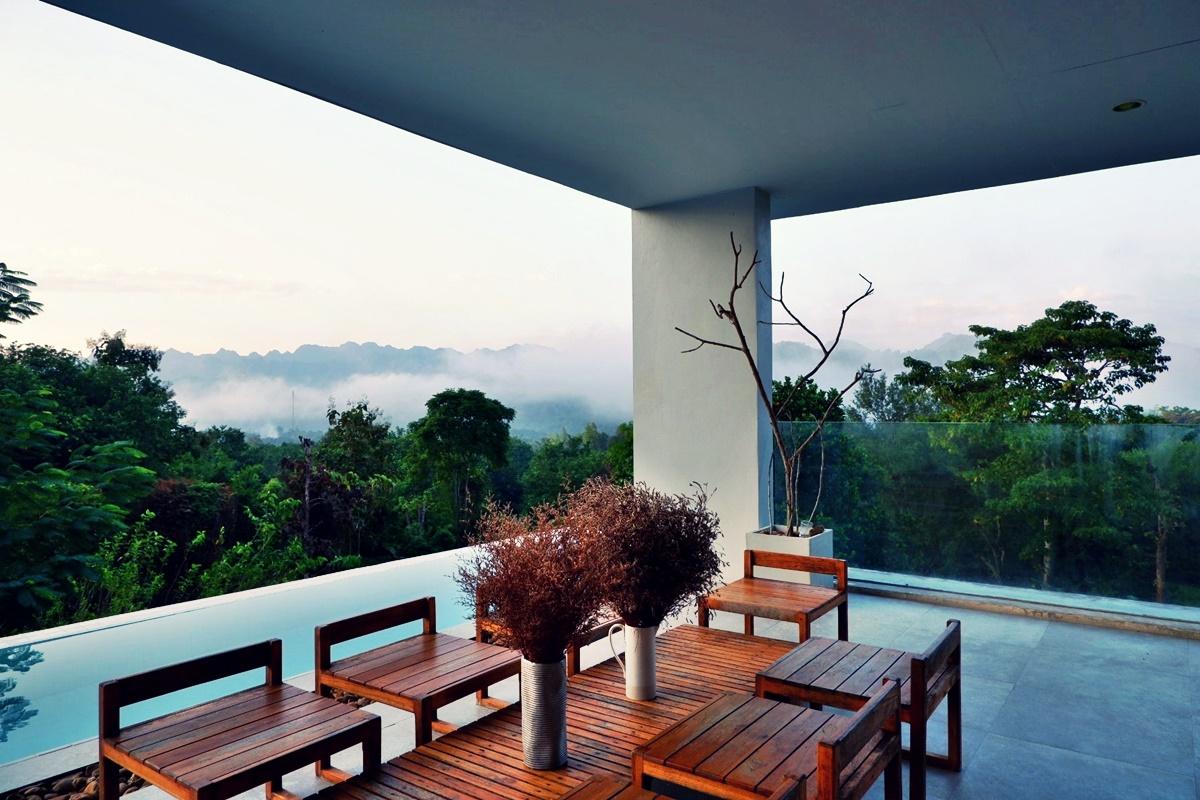 บ้านสายหมอก กาญจนบุรี พูลวิลล่า